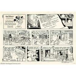 Mickeys Christmas Carol Book.Disney Studios Original Comic Strip Art For Mickey S