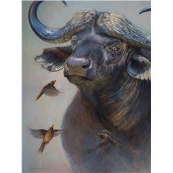 Bugged Boss  - Original Oil on Canvas by Wildlife Artist James Corwin