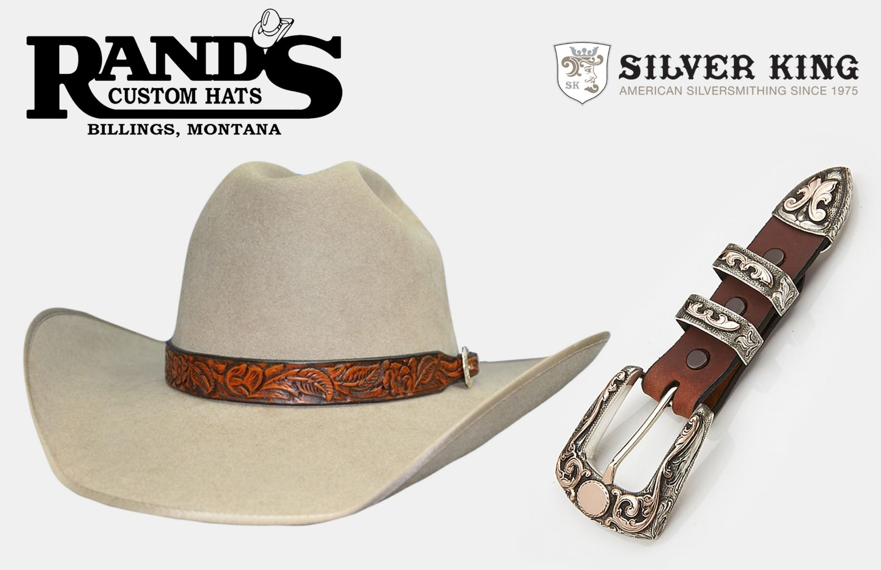 b2fc01f8f32 Image 1   Custom Made Felt Hat with Hatband and Sterling Buckle Set