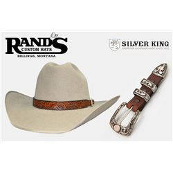 Custom Made Felt Hat with Hatband and Sterling Buckle Set