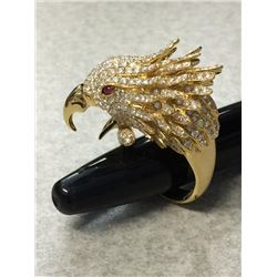 Handmade Diamond Eagle Ring
