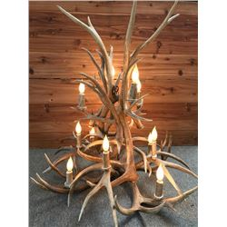 Elk and Mule Deer Antler Chandelier