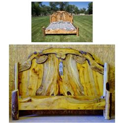 Exotic Myrtle Wood King Size Bed