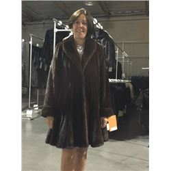 37-in. Natural Mink 3/4 Coat