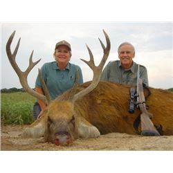 3-day All-inclusive Texas Exotic Species and Taxidermy for One Hunter and One Non-hunter