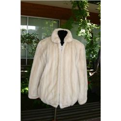 Tourmaline Mink Jacket with Zipper