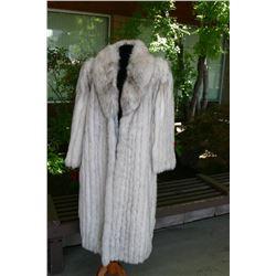 Blue Fox Full Length Coat