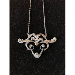 Platinum Necklace Edwardian Design