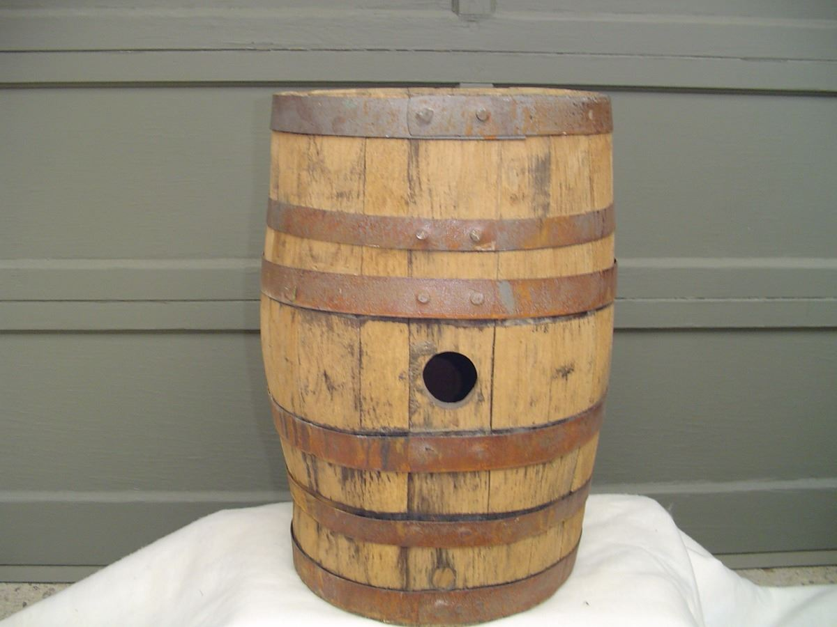 Large Old Wooden Beer Keg