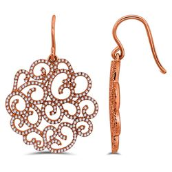 0.78 CTW 14K Rose Gold Ladies Earring - REF-84Y5X