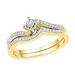 0.19 CTW Natural Diamond Bridal Engagement Ring 10K Yellow Gold