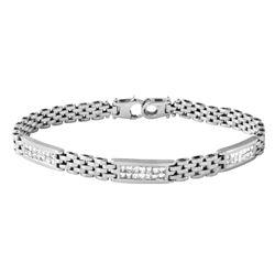 14K White Gold 1.05CTW Diamond Bracelet - REF-131R8K