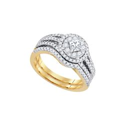 1 CTW Princess Diamond Solitaire Bridal Engagement Ring 14K Yellow Gold