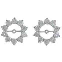 14K White Gold 0.42CTW Ladies Diamond Earring - REF-280H5W