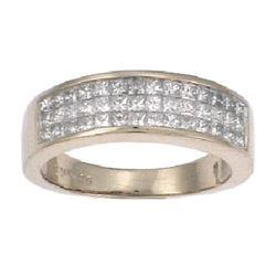 14K White Gold 1CTW Ladies Diamond Ring - REF-134Y3X