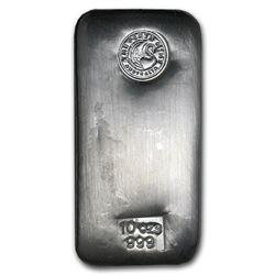 Genuine 10 oz 0.999 Fine Silver Bar - Perth Mint