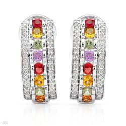 Genuine 0.6 TCW 14K White Gold Ladies Earring - REF-145H5W