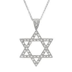 14K White Gold 0.49CTW Diamond Necklace - REF-57W9H