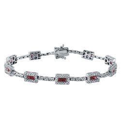 4.13 CTW 14K White Gold Ladies Bracelet - REF-207F8M