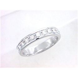 18K White Gold 0.35CTW Diamond Band Ring - REF-76F6M
