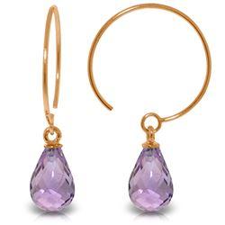 Genuine 1.35 ctw Amethyst Earrings Jewelry 14KT Rose Gold - REF-13T3A