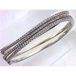 14K Rose Gold 0.84CTW Diamond Bangle - REF-121X2Y