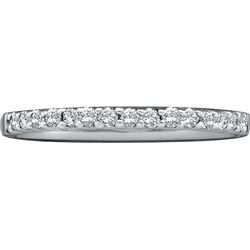 0.15 CTW Natural Diamond Slender Stackable Size 10 Band 14K White Gold