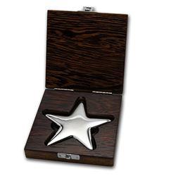 Genuine 500 gram Fine Silver Star Bar - Geiger Edelmetalle