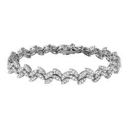 18K White Gold 2.51CTW Diamond Bracelet - REF-387X2Y