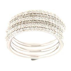 14K White Gold 1.34CTW Ladies Diamond Ring - REF-163W3H