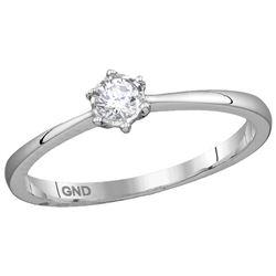 0.14 CTW Natural Diamond Bridal Engagement Ring 10K White Gold