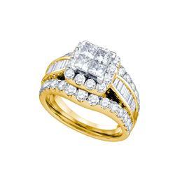 1 CTW Princess Natural Diamond Princess Bridal Engagement Ring 14K Yellow Gold