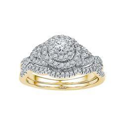 0.63 CTW Natural Diamond Bridal Engagement Ring 14K Yellow Gold
