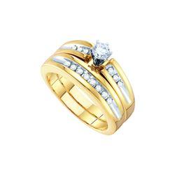 0.5 CTW His & Hers Natural Diamond Matching Bridal Ring 10K White Gold