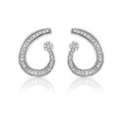 14K Gold 0.25 CTW Diamond Earring - REF-30Y4X