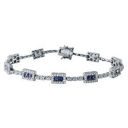 3.54 CTW 14K White Gold Ladies Bracelet - REF-230A7N