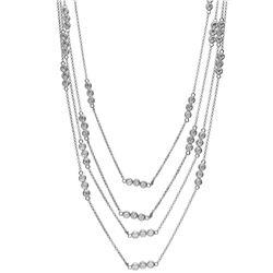 Genuine 3.27 TCW 14K White Gold Ladies Necklace - REF-338W3H