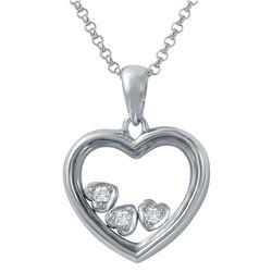 Genuine 0.06 TCW 14K White Gold Ladies Necklace - REF-44R3K