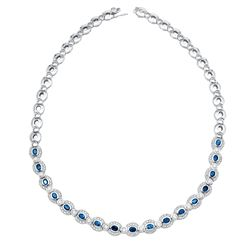 8.55 CTW 14K White Gold Ladies Necklace - REF-630N4A