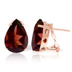 Genuine 10 ctw Garnet Earrings Jewelry 14KT Rose Gold - REF-61N2R