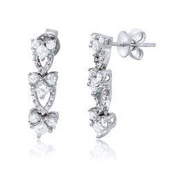 14K Gold 1.29 CTW Diamond Earring - REF-184M7F