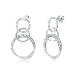 14K Gold 0.8 CTW Diamond Earring - REF-118W2H