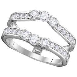 1 CTW Natural Diamond Ring 14K White Gold