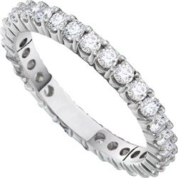2 CTW Natural Diamond Pave Anniversary Band 14K White Gold