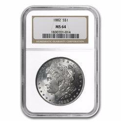 1882 Morgan Dollar MS-64 NGC