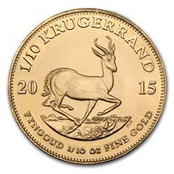2015 South Africa 1/10 oz Gold Krugerrand