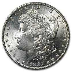 1881-S Morgan Silver Dollar, BU MS-64 PCGS