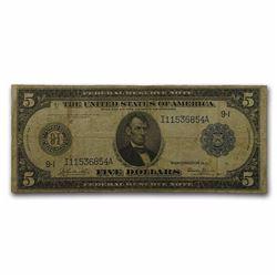 1914 (I-Minneapolis) $5.00 FRN Fine