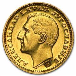 1931-1933 Yugoslavia Gold Dukat Alexander I AU