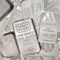 100 One oz Silver Bars .999 Fine